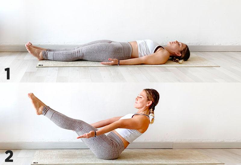 postura de yoga navasana