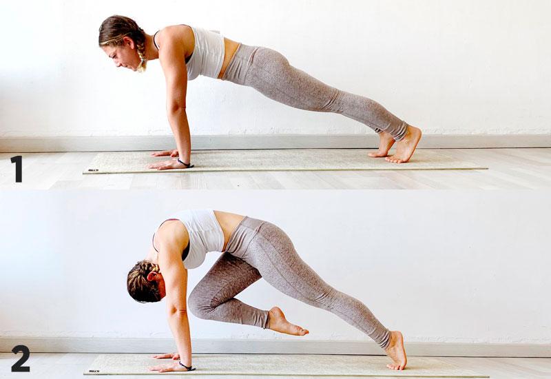 posturas de yoga dandasana