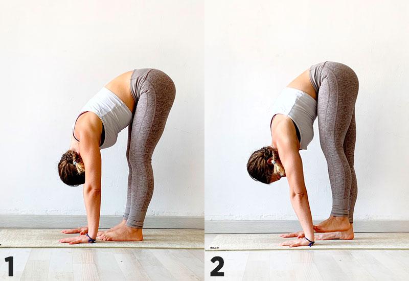 postura de yoga uttanasana