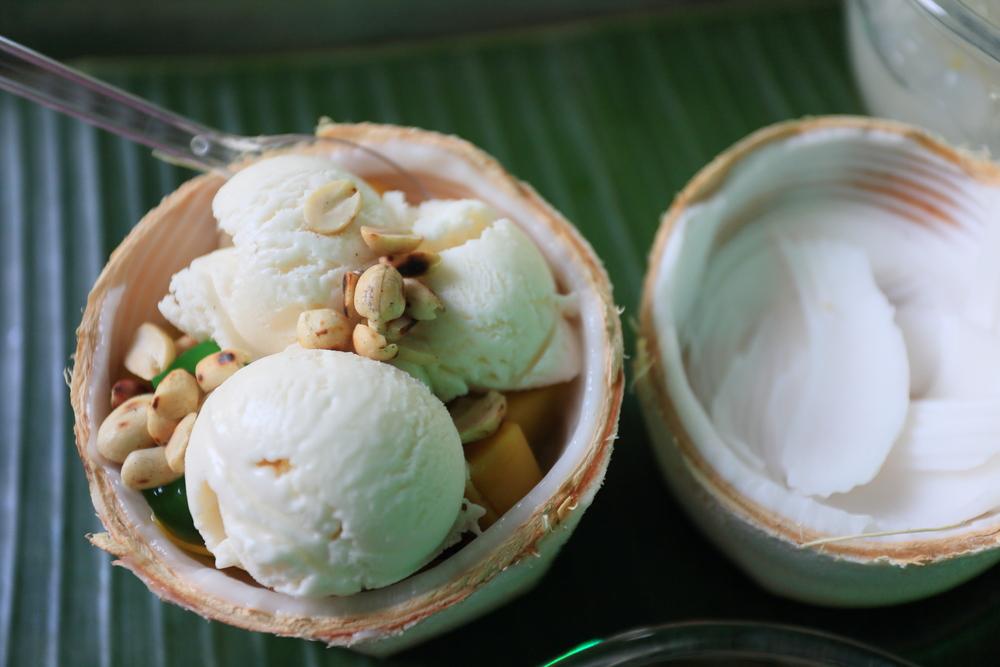 receta casera helado coco platano